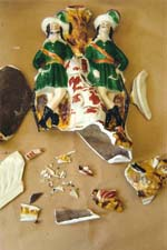 Staffordshire Figurine Broken
